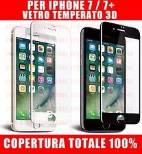 Pellicola in Vetro Temperato 3D CURVO Protezione Completa per iPhone 7 / 7 PLUS