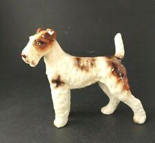 Vintage Norcrest Schnauzer dog Airedale Terrier figurine porcelain A718 Japan