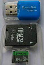 64GB Memory MicroSD Speicherkarte + 2x Adapter SD SDHC Karte UNIVERSAL