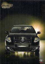 Toyota Auris 2006-07 UK Market Launch 12pp Brochure 1.4 1.6 2.0 2.2 VVT-i D-4D