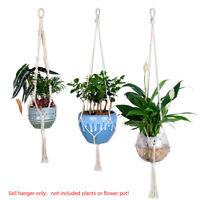 Large Size Pure Cotton Handmade Craft Retro Macrame/Simple Plant Hanger Ropes F