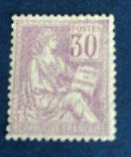 France N°115 30 C Violet Neuf * Infime Trace TB Centrage TTB  Côté 90€ + 50%