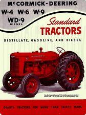 McCormick Deering Tractors New Metal Sign Model W-12 Featured