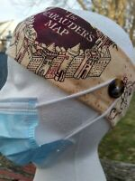 Women/'s headband with buttons Halloween theme medical handmade