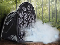 HALLOWEEN TOMBSTONE SKULLS FOGGY FOG PROP DECORATION HAUNTED HOUSE CEMETARY