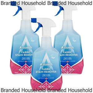 3 x ASTONISH FABRIC STAIN REMOVER SPRAY TOUGH ON STAINS GENTLE ON FABRICS 750ML
