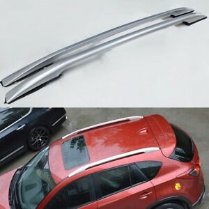 Fits for MAZDA CX-5 2017-2021 aluminium baggage roof rail rack bar Silver