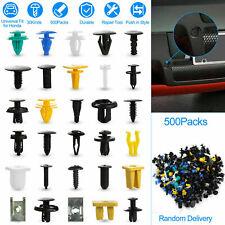 500pcs Plastic Car Body Push Pin Rivet Fasteners Trim Moulding Clip Screw Driver