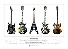 Famous Metal Guitars Limited Edition Fine Art Print A3 size