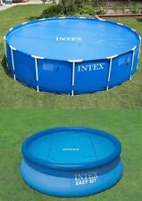 INTEX SWIMMING POOL SOLAR COVER 8FT 10FT 12FT HEATS THE WATER KEEPS DEBRIS OUT