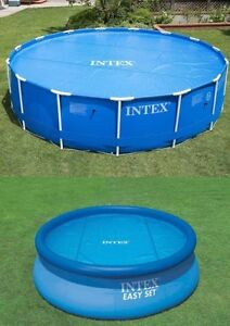 INTEX SWIMMING POOL Solar Cover 8FT 10FT 12FT Heats Water Heat Clean DEBRIS Out