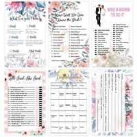 30pcs Floral Bridal Shower Games Parties Celebrity Couples Hen Hens Party Cards