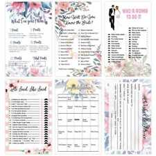 30pcs Floral Bridal Shower Games Parties Celebrity Couples Hen Hens Party Cards