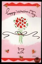 Valentine Red Rose For My Wife Bouquet - Large Valentine's Day Greeting Card
