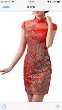Tout nouveau superbe Phoenix brodé chinois Robe Taille 10