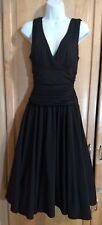 Max & Cleo Women 10 Black Halter Gypsy Flared Tulle Petticoat Party Dress NICE!