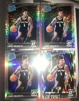 2018-19 DONRUSS OPTIC LONNIE WALKER IV *4 CARD LOT* SILVER PRIZM SPURS ROOKIE RC