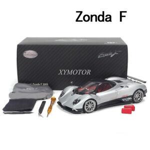 1/18 Almost Real AR Pagani Zonda F 2005 Geneva Show Diecast Model Car Silver
