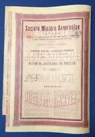 Societe Miniere Anversoise S.A., 1898