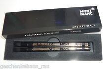 2 x MONTBLANC Rollerball-Mine SCHWARZ ( M ) Refills mystery black