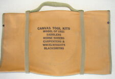 Original US Army Cavalry M1921 Saddlers-Wheelwrights Canvas Tool Bag & Tool Roll