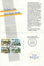 1992 Poste Tedesche Folder 700 Anni Città di Celle Germania Presenza Italiana