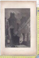 Litografia - Bartlett - Rogers - Globe Close - Dunfries - .XIX  Secolo -