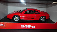 Hot Wheels Ferrari 348 TB 1989 Red 1/18