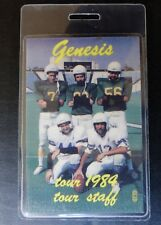 GENESIS 1984 MAMA Tour laminated backstage tour pass staff