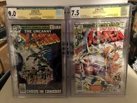 X-Men 120 & 121🔥CGC 9.0 &7.5🔥2x Signed Claremont & Byrne🔥1st Alpha Flight🔥