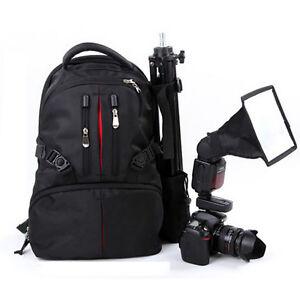 Backpack DSLR SLR Camera Shoulder Bag Case For Canon Nikon Sony + Rain-Cover
