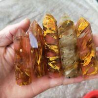 Bunter Stein Kristallstab Natürlicher Fluorit Edelstein Punktheilung