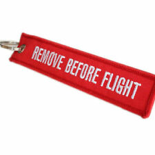 Special Linen Key Lanyard Remove Before Flight Aircraft Keychain Luggage Tag