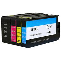 4PK 950XL 951XL Ink Cartridge for HP Officejet Pro 8610 8600 8100 8615 8620 8640