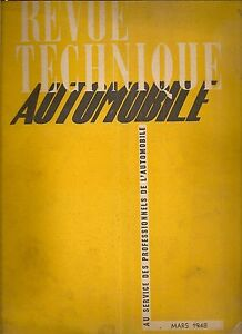 REVUE TECHNIQUE AUTOMOBILE 23 RTA 1948 ETUDE FIAT 6CV SIMCA 6CV 1932 1937