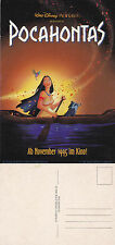 POCAHONTAS (GERMAN) THE MOVIE UNUSED ADVERTISING COLOUR POSTCARD