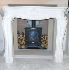 F19 Grand Louis Fire Surround in Plaster - BIRMINGHAM COLLECTION ONLY