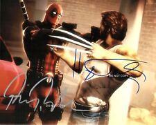 "Ryan Reynolds & Hugh Jackman 8x10"" Photo #2 Autographed RP X-Men Marvel Comics"