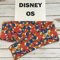 OS LuLaRoe DISNEY Leggings, DONALD DUCK, Disneyland World Characters, Sizes 2-10