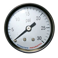 Pressure Gauge-Rear Mount 1.5 Inch Diameter, 0-30 psi - 1/8 Inch NPT - G2101-030