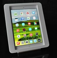 iPad 2 3 4 White VESA Security Enclosure for Kiosk POS Store Show Display Square
