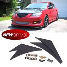 Fit A4 Front Bumper Fins Canard Splitters Valence Spoiler Lip Diffuser Add on