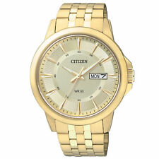 New Citizen BF2013-56P  Men's Dress Gold Tone Stainless Steel Watch