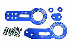 BLUE FRONT AND REAR TOW HOOK SET FOR RACE TRACK CAR - BENEN STYLE - UNIVERSAL