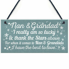 Best Nan And Grandad Gift Home Plaque Grandparent Sign Keepsake THANK YOU Gift