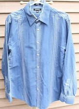 Men's Blue Print Shirt by Brandini; Size:  L