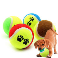 Pet Dog Puppy Cat Rubber Ball Chew Treat Cleaning Training Dental Teething Toys