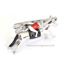 Fun Smart  Horse & Jockey 3D Novelty Tie Clip Red New