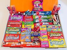 American Sweets Gift Box - USA Candy Hamper 46 items - Wonka - Present NL302