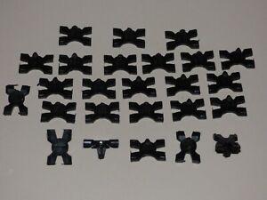 FIAT 128 131 132 SIDE BODY MOULDING CLIP SET 25 PIECES BLACK PLASTIC